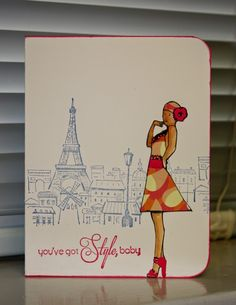 Amethystcat Designs: Stamping with Seleise: Bathing Beauty in Paris AWESOME combination of stamp sets!!