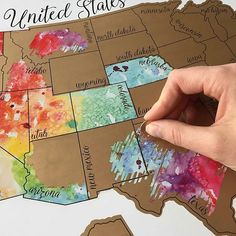 Watercolor Scratch Off World Map Travel Map Xin Watercolor - Watercolor scratch off map