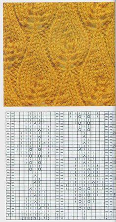 Lace Knitting Stitches, Lace Knitting Patterns, Knitting Charts, Lace Patterns, Knitting Yarn, Stitch Patterns, Crochet Motif, Crochet Yarn, Crochet Hooded Scarf