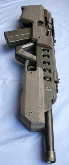 "CBRPS Saiga 12 Bullpup shotgun. Kinda cool in a ""Space Marines"" kind of way."
