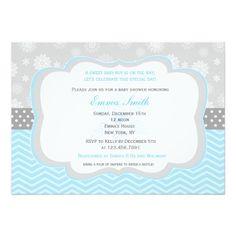 Snowflake Winter Baby Shower Invitations