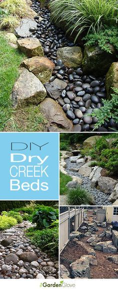 Would make for a nice natural break between the hostas and grass I'll be putting in between the backyard trees || DIY Dry Creek Beds • Wonderful Ideas and Tutorials!