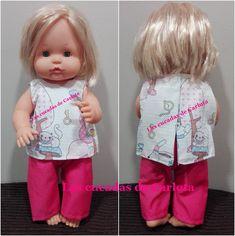 Las cucadas de Carlota y sus muñecas: Patrón conjunto pantalón y camiseta Nenuco