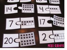 Ten frame math centers and a ton of other ideas for teaching numbers