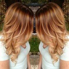 Warm Blonde Balayage and hotheads hair extensions