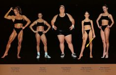 athletic body type,  we are all different!