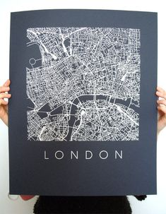 London Map Art Screen Print Various colors di iLikeMaps Map Design, Print Design, Design Ios, Canson, London Map, Brainstorm, Grafik Design, Map Art, Graphic Design Inspiration