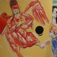 R.B. Kitaj, Abraham's God (After Rembrandt) 2005–6