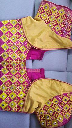 Blouse Kutch Work Designs, Patch Work Blouse Designs, Pattu Saree Blouse Designs, Simple Blouse Designs, Blouse Designs Silk, Designer Blouse Patterns, Bridal Blouse Designs, South Indian Blouse Designs, Fancy