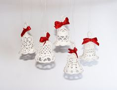 Crochet Christmas ornaments lace bell crochet rustic by zolayka (Etsy)