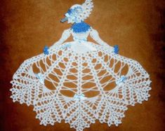 Items similar to 0516 Ms Frost Crinoline Girl Doily Crochet Pattern on Etsy Crochet Dollies, Crochet Doily Patterns, Crochet Girls, Crochet Home, Thread Crochet, Filet Crochet, Crochet Motif, Crochet Crafts, Hand Crochet