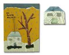 """Spilla casetta tetto blu con illustrazione """"Ma petite Maison"""" realizzata da MYFAVOURITELULLABY in collaborazione con l'illustratore italiano MASSIMO SCOPOSKI— La Casa di Ninni"""