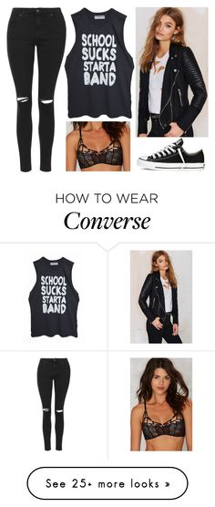 """#1538"" by kaydog on Polyvore featuring moda, Topshop, BLANKNYC y Converse"