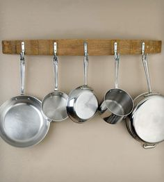Hanging Pots And Pans On Wall our rustic pot rack makes a lovely, environmentally friendly gift