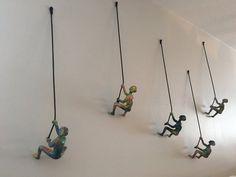 Piece Climbing Sculpture Wall Art Gift For Home Decor by MTLDecor