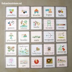 toy label organization freebies - the handmade home