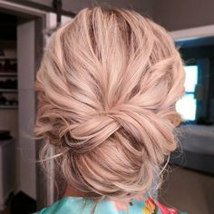 rose gold updo