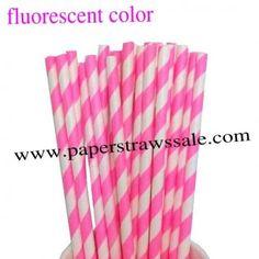 Fluorescent Hot Pink Striped Paper Straws http://www.paperstrawssale.com/fluorescent-hot-pink-striped-paper-straws-500pcs-p-703.html