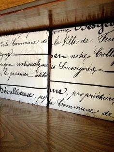 Stretched Canvas Classy Home Decor French Script by 2RendyVintage