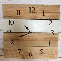 Another colour variation with my pallet clocks - this one feels a bit more modern.