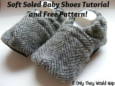 baby shoes tutorial - If only they would nap