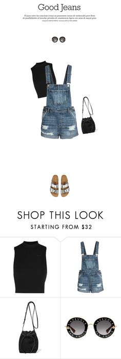 """""""Untitled #439"""" by almost-glamorous ❤ liked on Polyvore featuring NIKE, Mansur Gavriel, Gucci and distresseddenim"""