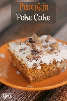 This Pumpkin Poke Cake is a delicious variation on our Better Than(you know what)Cake. We added a seasonal twist to that recipe and it turned out AMAZING.