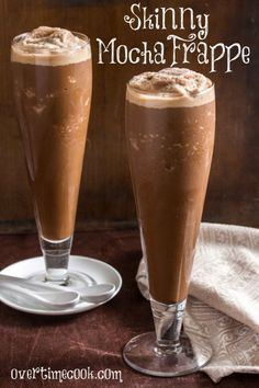 Skinny Mocha Frappe- going to try this with coconut milk and without the sugar...