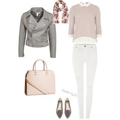 Perfecto jacket. Look 7 by nadine-schokobon-bala on Polyvore featuring polyvore, fashion, style, Dorothy Perkins, NLY Trend, Dr. Denim, Abound and H&M