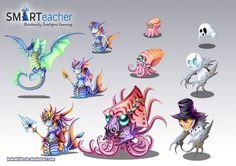 Prodigy Water Monsters by *kokodriliscus on deviantART | chibi ...