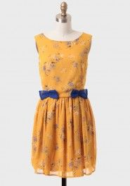 on the bright side floral dress