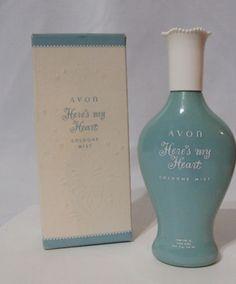 Vintage 50s Avon Heres My Heart Cologne Mist Perfume w Box   eBay