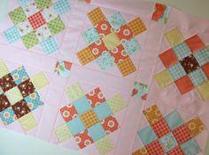notes of sincerity: granny square mini quilt.
