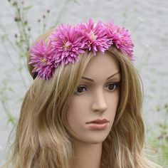 Fabric Pine Needles Flower Crown Elasticity Headband Hairband Prettiest Wedding Hairstyles Floral Crowns Fairy Wedding Women #WeddingHairstyles
