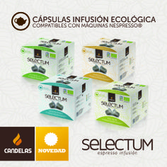 Nuevas infusiones ecológicas en cápsulas. El sabor más natural para el #MomentoSelectum de Candelas.