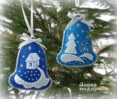 Buy Christmas tree from felt - Bell in online store at the Fair of Masters Christmas Tree Toy, Handmade Christmas Decorations, Felt Decorations, Christmas Ornaments To Make, Christmas Diy, Christmas Crafts Sewing, Christmas Projects, Holiday Crafts, Felt Ornaments Patterns