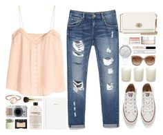 """""""Untitled #233"""" by rachelallegra ❤ liked on Polyvore featuring H&M, Zara, Converse, Parisi, philosophy, Casa Couture, NARS Cosmetics, Allstate Floral, AERIN and STELLA McCARTNEY"""