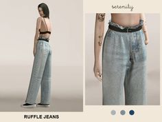 Ruffle Jeans - The Sims 4 Download - SimsDom