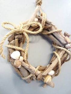 DIY driftwood Wreath ...hunt for supplies at the beach