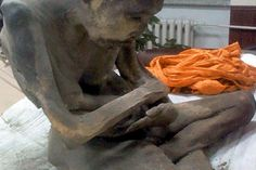 The haunting, mummified remains of a possible lama teacher have been found in Mongolia —still sitting in the lotus position after about two centuries.