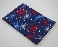FOURTH of JULY PILLOWCASE Fireworks American Red White Blue Glitter Sparklers Tradition Ready to Ship by GiftsfromGrammy on Etsy