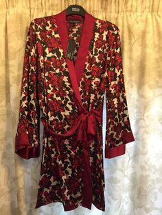 M&S ROSIE AUTOGRAPH ladies dressing gown/Wrap 100%SILK UK16 EU44 BNWT LUXURY