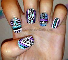 Tribal Fringe Fake Nails