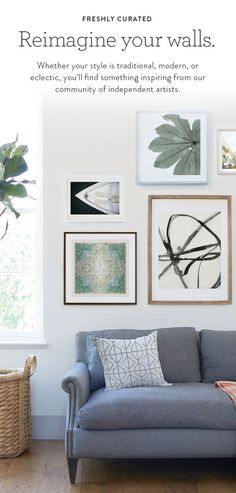 Easily makeover your home with unique wall art from Minted.