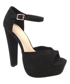 92f2ff09211 Wild Diva Black Fold-Over Gala Sandal
