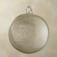 Metallic Art Glass Ball Ornament