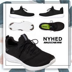 b80f06e1bac Skechers Go Run 600 Defiance Womens - Black White Skechers GOrun 600 er en  letvægts all