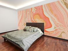 wall mural room setting