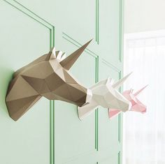 Elegant, Geometric Animal Home Decorations You Can Easily Assemble…