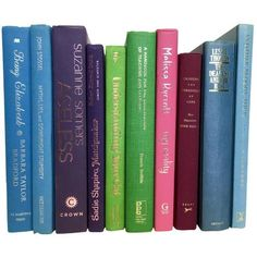 Multicolor Decorative Books - Set of 10 ($88) ❤ liked on Polyvore featuring fillers, books and art books